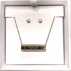 NIB - Michael Kors Bar Necklace Set
